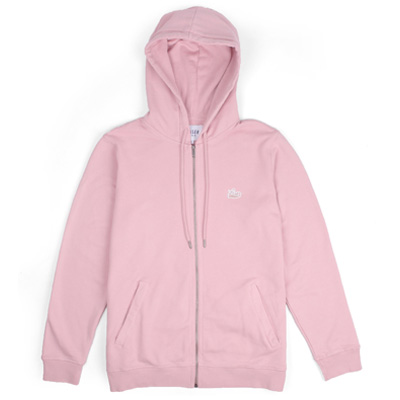 LASER Hooded Zipper BORNE pale rose