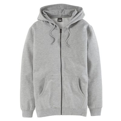 CLEPTOMANICX Hooded Zipper LIGULL II heather grey