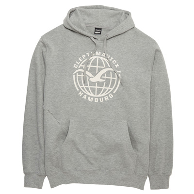 CLEPTOMANICX Hoody MÖWE HAMBURG heather grey