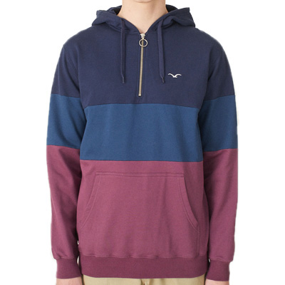 CLEPTOMANICX Hoody DECK STRIPE crushed violets/navy