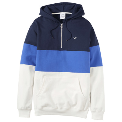CLEPTOMANICX Hoody DECK STRIPE dark navy/blue/white