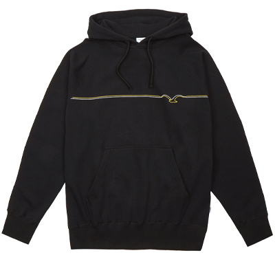 CLEPTOMANICX Hoody MÖWE LINES black/golden rod
