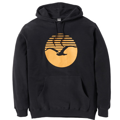 CLEPTOMANICX Hoody SUNRISE 2 black/golden yellow