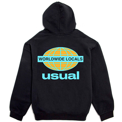 USUAL Hoody WORLDWIDE LOCALS black/blue