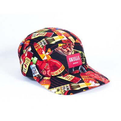 SKULLS 5Panel Cap HOT & SPICY black/red
