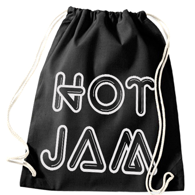 HOT JAM Turnbeutel LOGO black/silver
