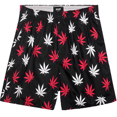 HUF Boxershorts PLANTLIFE black/red/white