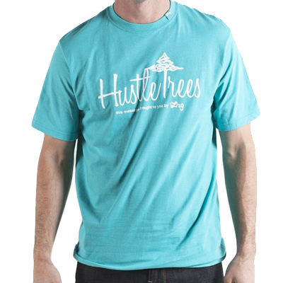 LRG T-Shirt HUSTLE TREES coral blue
