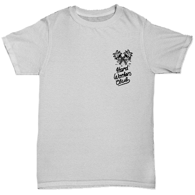 HYPERRAUM T-Shirt HARD WORKERS CLUB heather grey