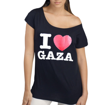 I LOVE GAZA Girl Shirt black