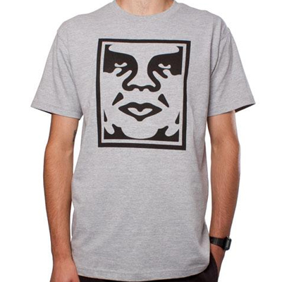 OBEY T-Shirt ICON FACE heather grey
