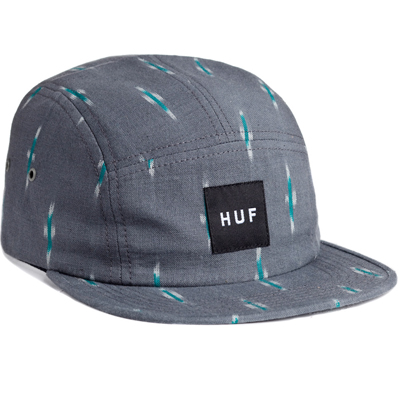 HUF 5Panel Cap IKAT grey