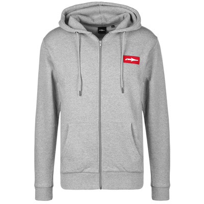 ILLMATIC Hooded Zipper BOXY heather grey/red