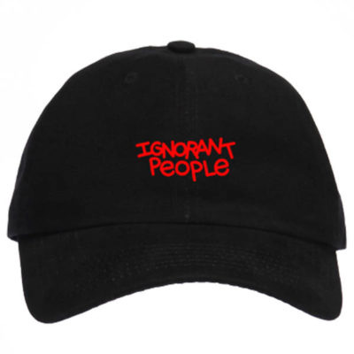 IGNORANT PEOPLE Baseball Cap IP black/red