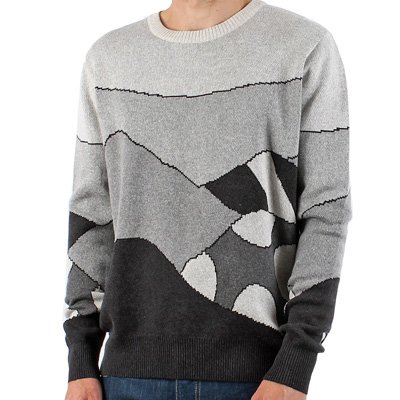 ROCKWELL Knit Sweater GREY HILLS grey jacquard