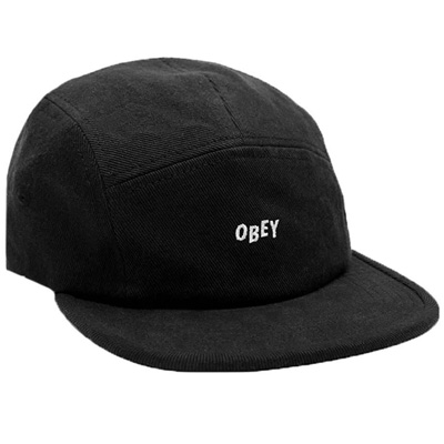 OBEY 5Panel Cap JUMBLE BAR II black