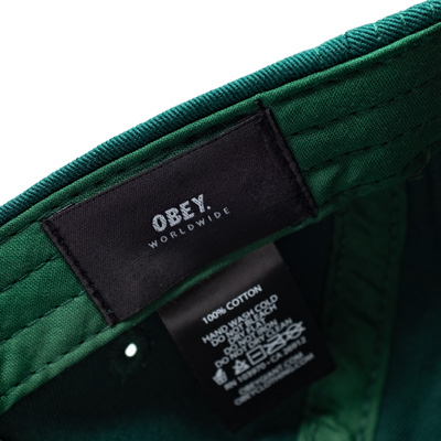 Obey Clothing - OBEY 5Panel Cap JUMBLE BAR II pine green - 5-Panel ... ae1eb8793c0a
