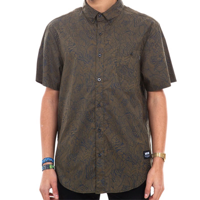 WRUNG Short Sleeve Shirt JUNGLE khaki green