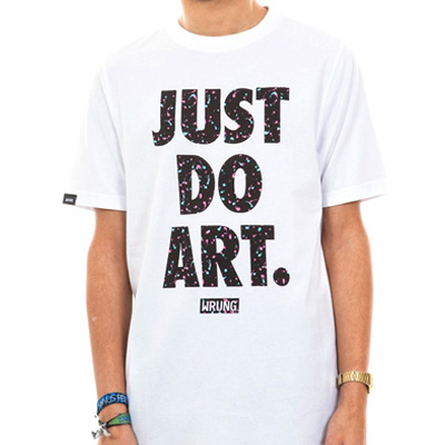 WRUNG T-Shirt JUST DO PAINT white/black