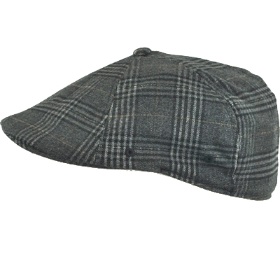 KANGOL Flat Cap BLEEKER PLAID WOOL 504 black