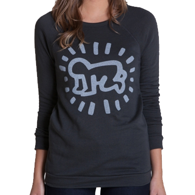 OBEY Girl Sweater KEITH HARING BABY graphite