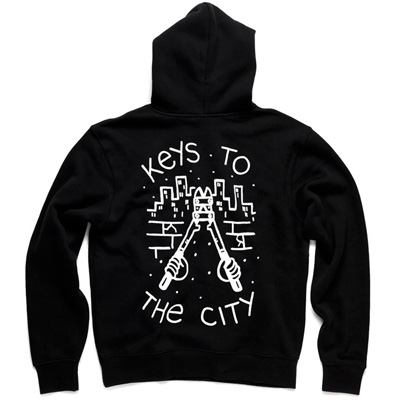 IGNORANT PEOPLE Hoody KEYS TO THE CITY black