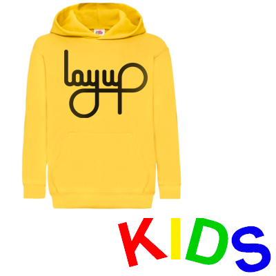 LAYUP Hoody LOGO yellow/black - Kids