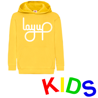 LAYUP Hoody LOGO yellow/white - Kids