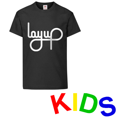 LAYUP T-Shirt LOGO black/white - Kids