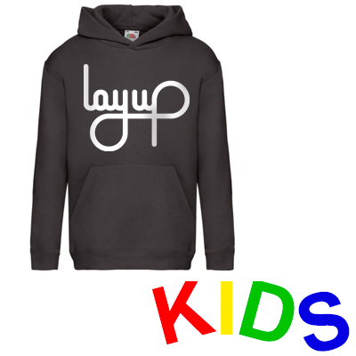 LAYUP Hoody LOGO black/white - Kids