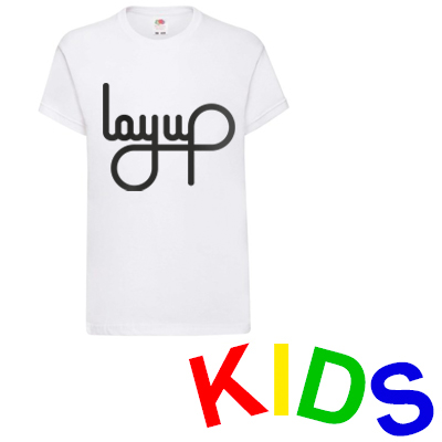 LAYUP T-Shirt LOGO white/black - Kids