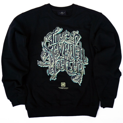 7TH LETTER Sweater KKADE LETTERING black
