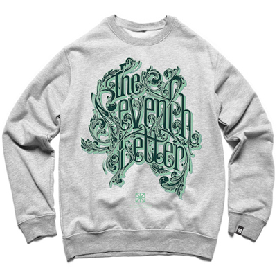 7TH LETTER Sweater KKADE LETTERING heather grey