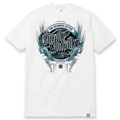 7TH LETTER T-Shirt KKADE LOYALTY white