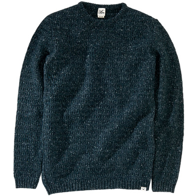 CLEPTOMANICX Knit Sweater HEAVY SLUB deep teal