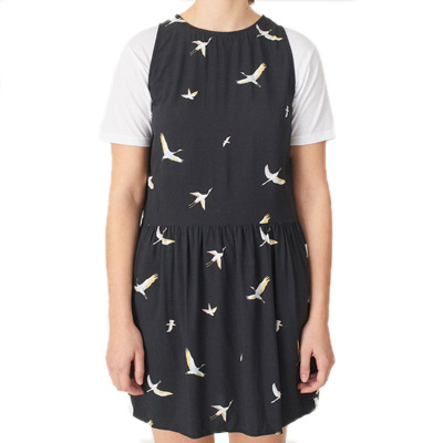 CLEPTOMANICX Girl Dress EASY bird allover