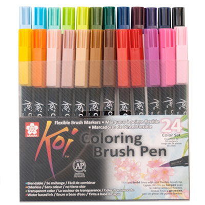 SAKURA KOI Coloring Brush Pens 24er Set Color
