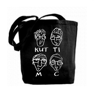 KUTTI MC Tote Bag HEADS black