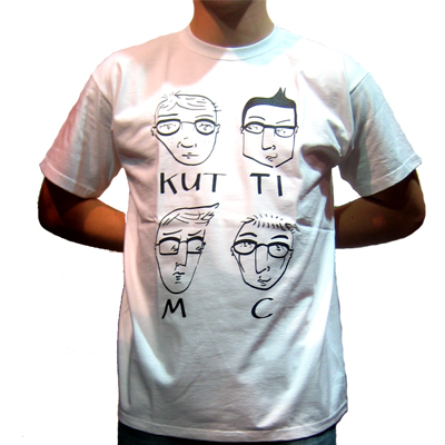 KUTTI MC T-Shirt HEADS white