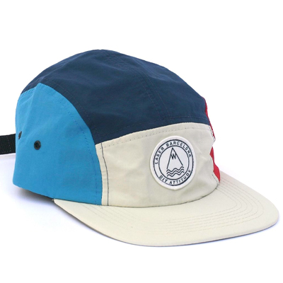 LASER 5Panel Cap BARCELONETA ivory/red/navy/blue