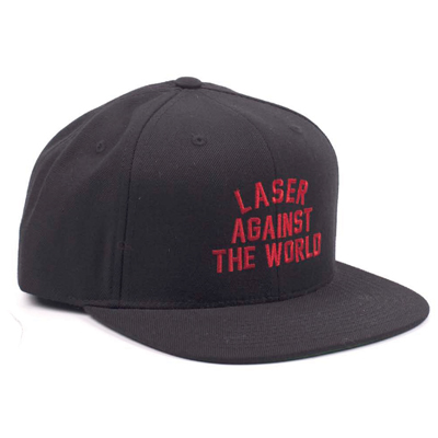 LASER Snap Back Cap AGAINST THE WORLD black
