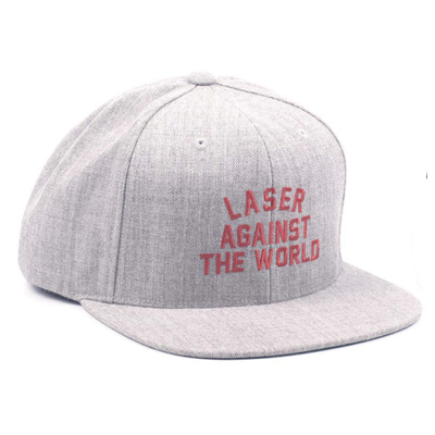LASER Snap Back Cap AGAINST THE WORLD grey