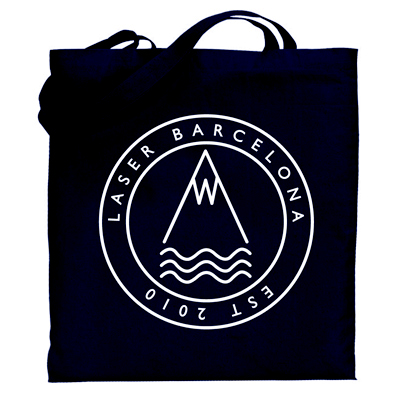 LASER Tote Bag OG LOGO black/white