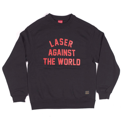 LASER Sweater AGAINST THE WORLD black