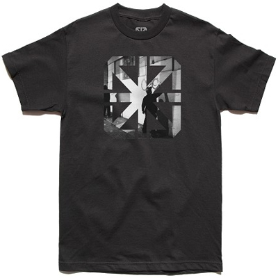 7TH LETTER T-Shirt LATE NIGHT black