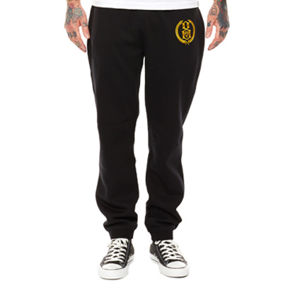 REBEL8 Sweatpants LAURELS black/yellow