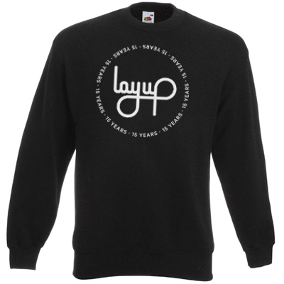 LAYUP Sweater 15 YEARS CIRCLE LOGO black/silver