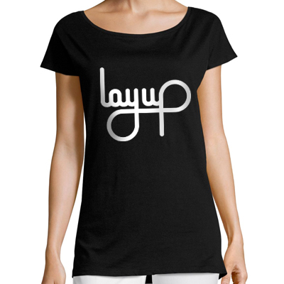 LAYUP Girl Shirt LOGO black/white