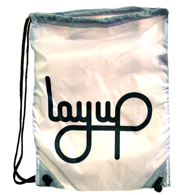 LAYUP Turnbeutel LOGO grey/black