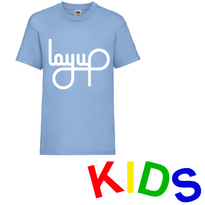LAYUP T-Shirt LOGO pastel blue/white - Kids